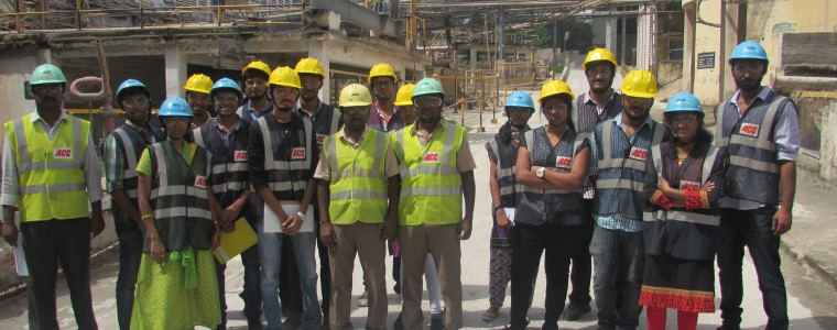 Field trip to Associated Cement Companies (ACC) Limited, Coimbatore on 11 Nov